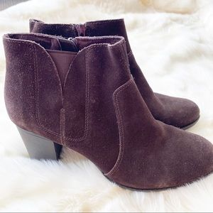 Clarks Collection Brown Suede heeled boots